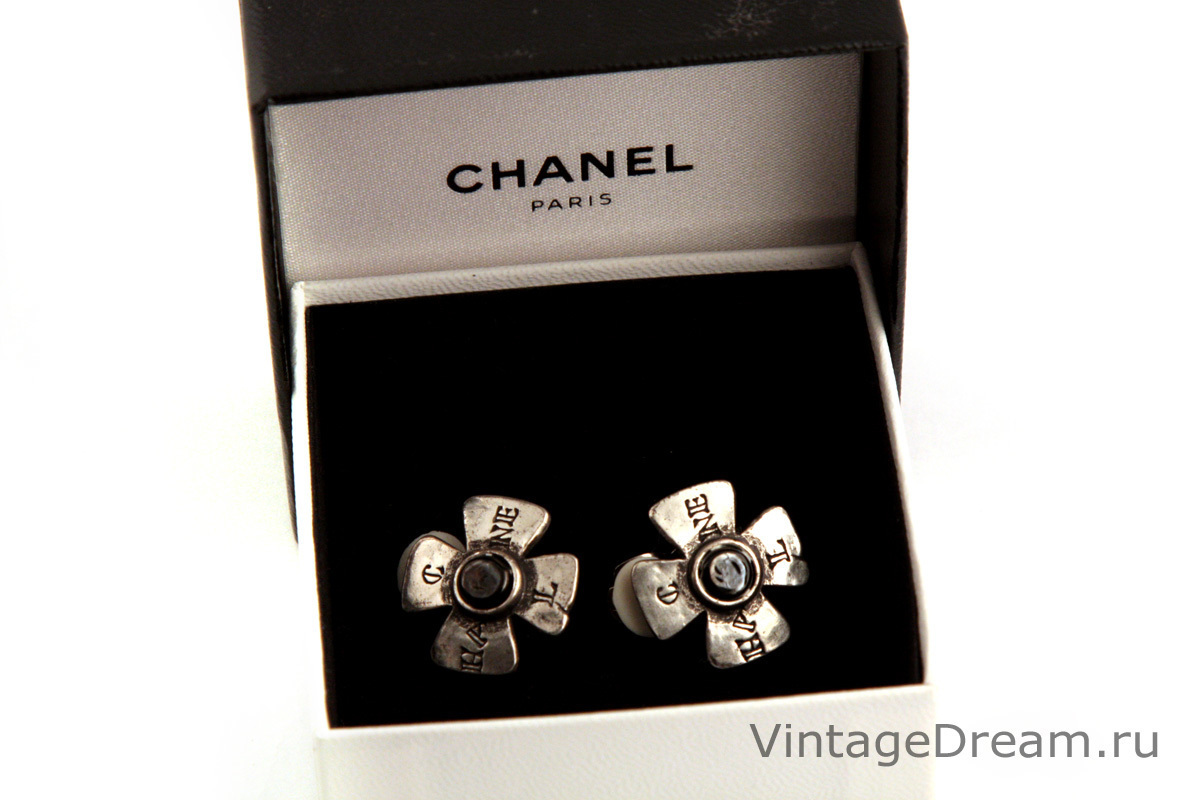Exquisite Maltese cross earclips by Chanel