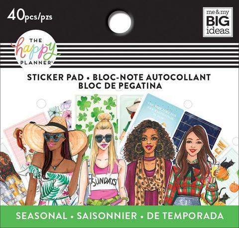 Блокнот со стикерами для ежедневника - Happy Planner X Rongrong Tiny Sticker Pad - Seasonal- 40шт