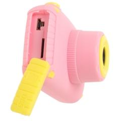 детский цифровой фотоаппарат зуу кидс камера силиконовый чехол зайчик розовый