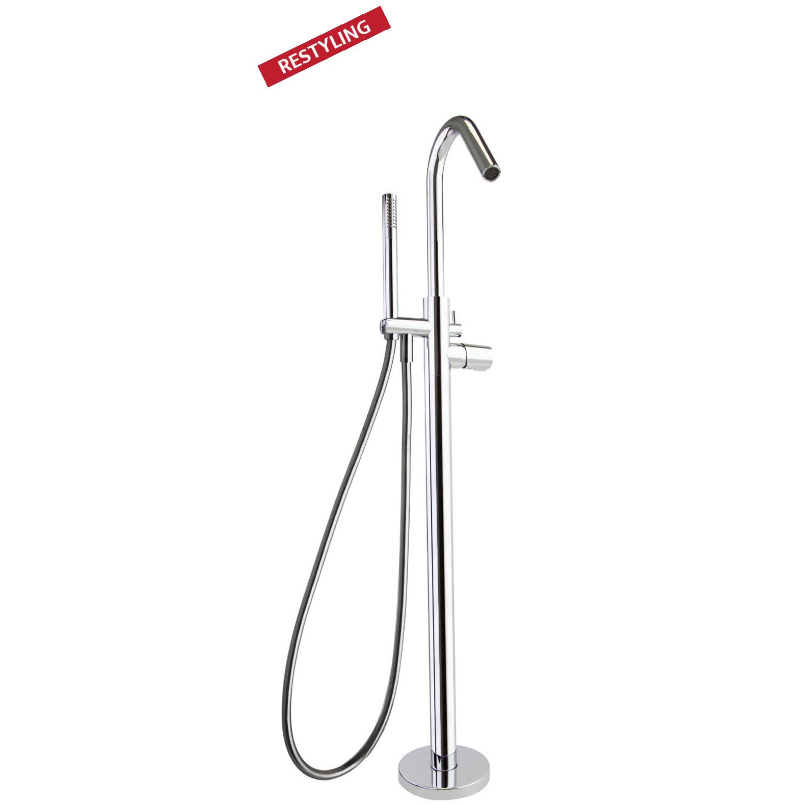 Напольный смеситель для ванны с душевым комплектом TZAR 348503MO