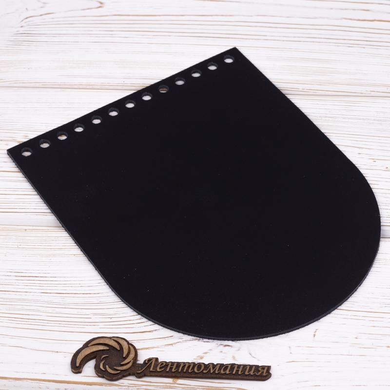 Клапаны для Орео Клапан для сумочки кожаный черный 19,5 на 15,5 см IMG_7353.jpg