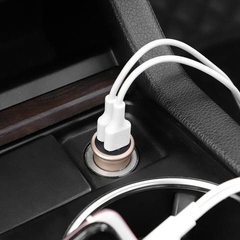 Автомобильное зарядное устройство HOCO Z30 Easy 3.1A Черный
