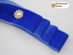 Лента Бархатная синяя