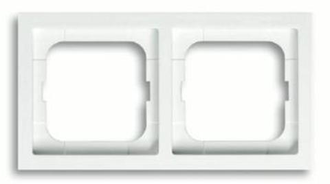 Рамка на 2 поста. Цвет Белый глянец. ABB(АББ). Future Linear(Фьючер Линеар). 1754-0-4499