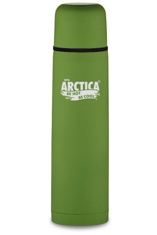 Термос Арктика (103-750 зелёный) 0,75 литра с узким горлом классический, зеленый, резиновое покрытие