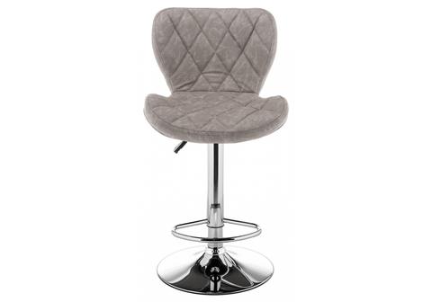 Барный стул Porch светло-серый 47*47*88 Хромированный металл /Серый
