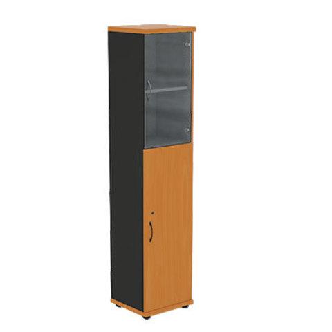 Шкаф узкий со стеклянными дверцами R5W13 МОНО-ЛЮКС