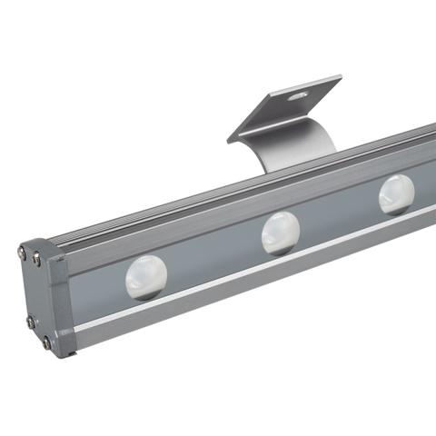 Светодиодный прожектор AR-LINE-1000L-48W-24V RGB-Day4000 (Grey, 15x45 deg, DMX512) (ARL, Закрытый)