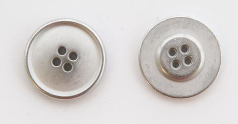Пуговица металлическая, двусторонняя, цвет светлый металл, 23 мм