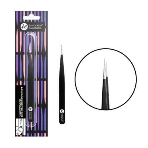 Innovator cosmetics Пинцет для ресниц ручной заточки прямой TS-10