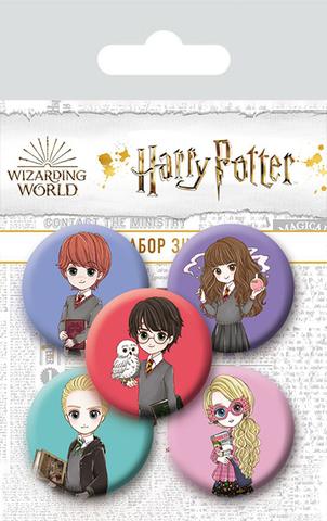 Набор значков Harry Potter. Cute Kids