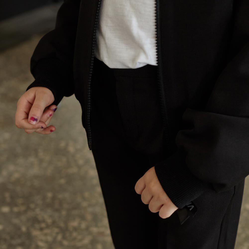 Детский школьный костюм для девочек в черном цвете