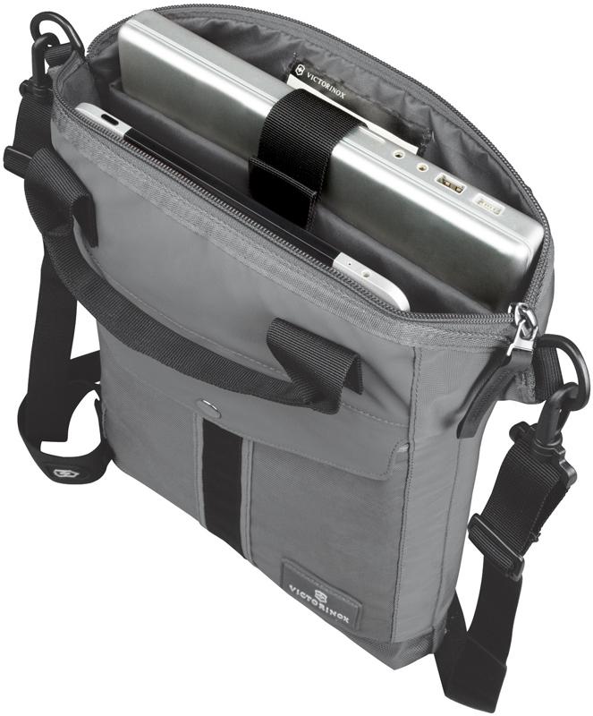 Сумка наплечная Victorinox Altmont 3.0 Slimline Tote с отделением для ноутбука, цвет серый (32389704) 31x6x41 см., 7 л.   Wenger-Victorinox.Ru
