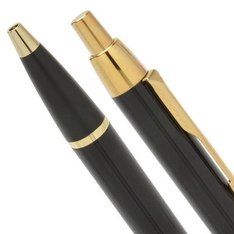 Набор из 2х ручек в подарочной коробке  «Паркер Ай Эм Блэк Джи Ти».  Шариковая ручка и перьевая ручка. Произведено в Китае.123