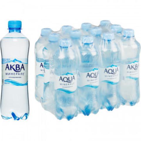 Вода питьевая Аква Минерале ПЭТ 0,5л негаз.12 шт/уп