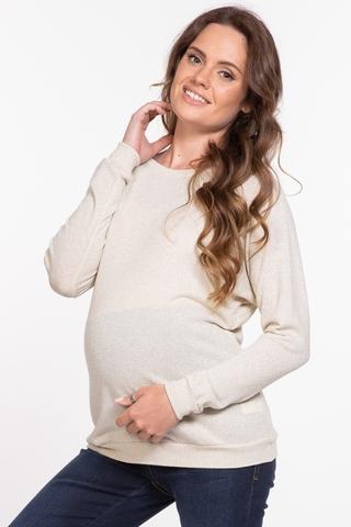 Джемпер для беременных и кормящих 11295 бежевый