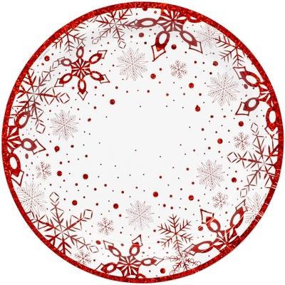 Тарелка Снежные Искры 17см 6шт
