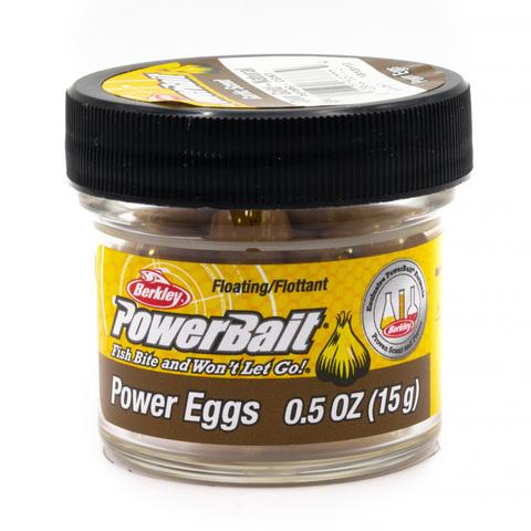 Приманка силиконовая Berkley Powerbait Floating Eggs Garlic Gold-Natural (1313112) Имитация икры плавающая
