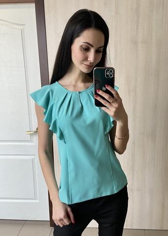 Ася. Сучасна ділова офісна блуза. Ментол