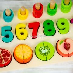 Развивающая доска - сортер Цифры и фрукты
