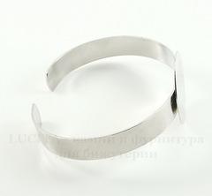Основа для браслета с площадкой 25 мм, 14,5 см (цвет - никель)