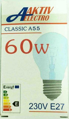 Лампа накаливания Б-230-60-1 60Вт Е-27 Aktiv-Electro груша