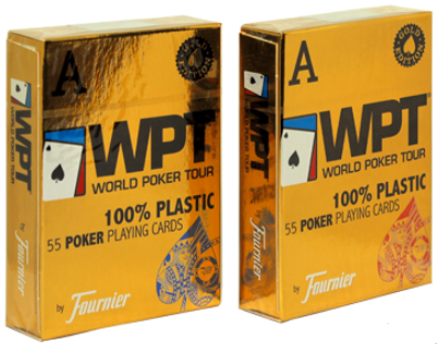 Карты Fournier WPT Gold Edition (100% пластик)