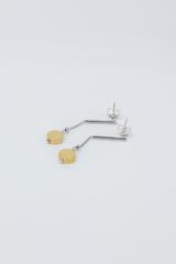 Серьги - цепочки с позолоченными подвесками  оптом и в розницу