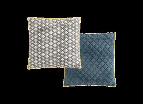 Подушка Silai Light grey - Blue 50x50