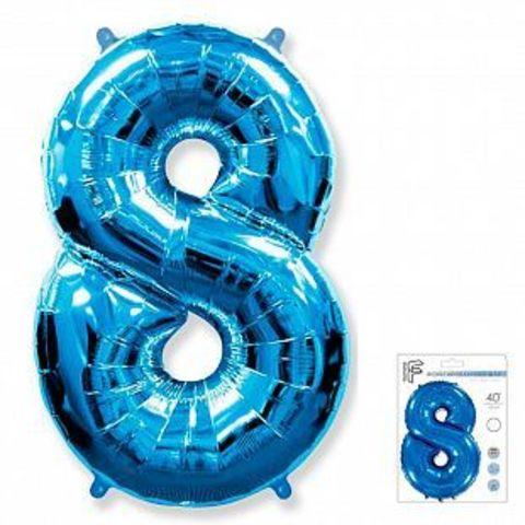 Цифра восемь- синий