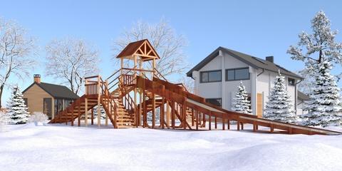 Зимние деревянные скаты для муниципальных площадок