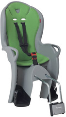 Детское велокресло Hamax Kiss Medium Grey/Green (Серый/Зеленый)