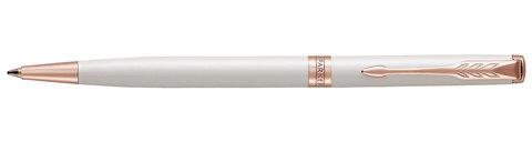 Шариковая ручка Parker Sonnet Slim Pearl White Lacquer PGT123