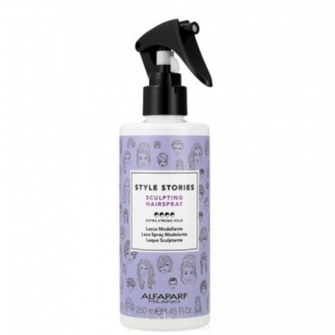 Alfaparf Milano Style Stories: Скульптурирующий спрей для волос экстра сильной фиксации (Sculpting Hairspray), 250мл