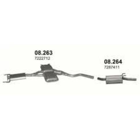 глушитель Ford Scorpio II 2,0; 2,3 94-97