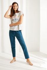 Сіра футболка з бавовни з короткими рукавами