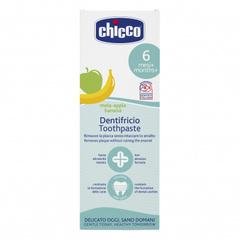 Chicco. Зубная паста со вкусом яблока и банана, 6м+, 50 мл