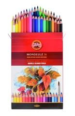 Набор акварельных карандашей MONDELUZ FRUIT 36 цветов в картонной коробке