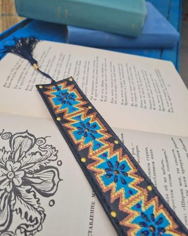 Dəri əlfəcin \  Кожаная закладка \ Leather bookmark (qara2)