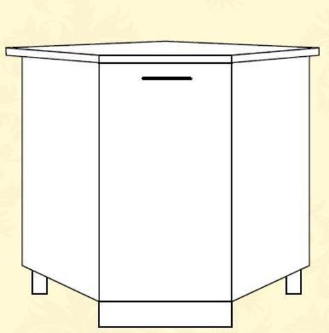 Империя СУ 850*850 Шкаф нижний угловой