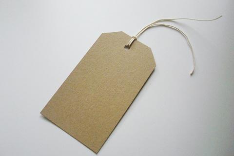 Бирки (теги) Крафт 6,5х11,5 см со скошенными уголками