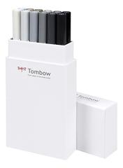 Набор маркеров Tombow ABT Dual brush pens, серые тона, 12 цветов.