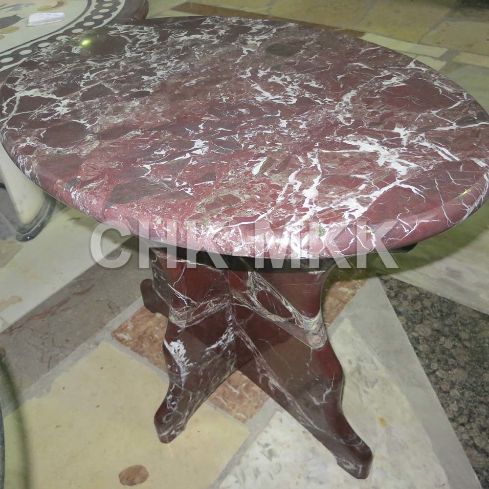 Столик из мрамора Россо Леванто