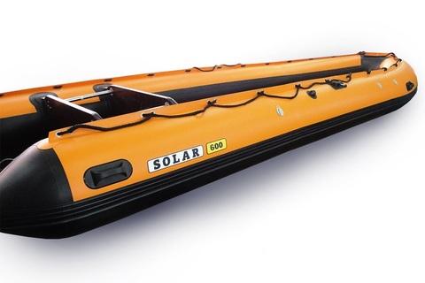Надувная ПВХ-лодка Солар - 600 Jet Tunnel (оранжевый)