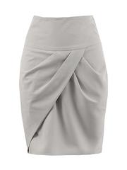 5461-3 юбка светло-серая