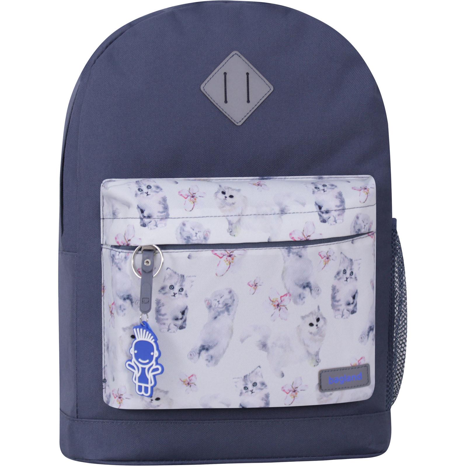 Женские рюкзаки Рюкзак Bagland Молодежный W/R 17 л. Серый 986 (00533662) IMG_1076_суб986_-1600.jpg