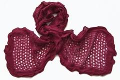 Женский бордовый палантин (0073 PAL 1)