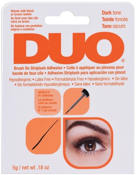 DUO Brush On Striplash Adhesive Dark Tone темный клей для накладных ресниц c кисточкой 5г
