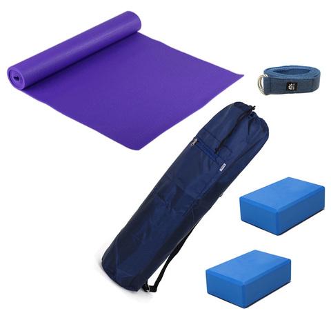 Набор для йоги Старт (коврик, чехол, ремень, 2 блока)