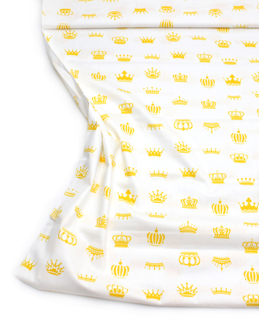 Короны желтые на белом 2